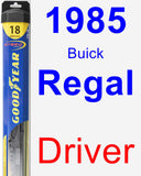 Driver Wiper Blade for 1985 Buick Regal - Hybrid