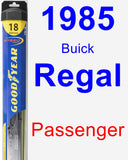Passenger Wiper Blade for 1985 Buick Regal - Hybrid