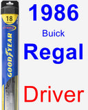 Driver Wiper Blade for 1986 Buick Regal - Hybrid