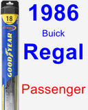 Passenger Wiper Blade for 1986 Buick Regal - Hybrid