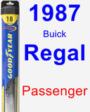 Passenger Wiper Blade for 1987 Buick Regal - Hybrid