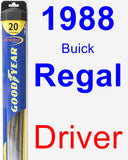 Driver Wiper Blade for 1988 Buick Regal - Hybrid