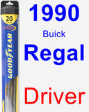 Driver Wiper Blade for 1990 Buick Regal - Hybrid