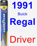 Driver Wiper Blade for 1991 Buick Regal - Hybrid