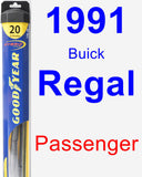 Passenger Wiper Blade for 1991 Buick Regal - Hybrid