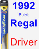Driver Wiper Blade for 1992 Buick Regal - Hybrid