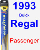 Passenger Wiper Blade for 1993 Buick Regal - Hybrid