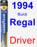 Driver Wiper Blade for 1994 Buick Regal - Hybrid