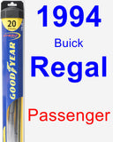 Passenger Wiper Blade for 1994 Buick Regal - Hybrid
