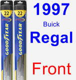 Front Wiper Blade Pack for 1997 Buick Regal - Hybrid
