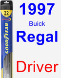Driver Wiper Blade for 1997 Buick Regal - Hybrid