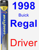 Driver Wiper Blade for 1998 Buick Regal - Hybrid