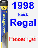 Passenger Wiper Blade for 1998 Buick Regal - Hybrid