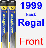 Front Wiper Blade Pack for 1999 Buick Regal - Hybrid