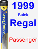 Passenger Wiper Blade for 1999 Buick Regal - Hybrid