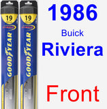 Front Wiper Blade Pack for 1986 Buick Riviera - Hybrid