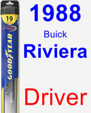 Driver Wiper Blade for 1988 Buick Riviera - Hybrid