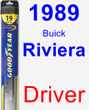 Driver Wiper Blade for 1989 Buick Riviera - Hybrid