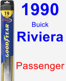 Passenger Wiper Blade for 1990 Buick Riviera - Hybrid