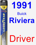 Driver Wiper Blade for 1991 Buick Riviera - Hybrid