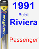 Passenger Wiper Blade for 1991 Buick Riviera - Hybrid