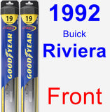 Front Wiper Blade Pack for 1992 Buick Riviera - Hybrid