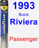 Passenger Wiper Blade for 1993 Buick Riviera - Hybrid