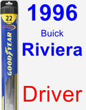 Driver Wiper Blade for 1996 Buick Riviera - Hybrid