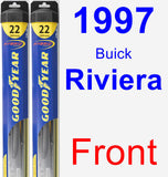 Front Wiper Blade Pack for 1997 Buick Riviera - Hybrid
