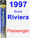 Passenger Wiper Blade for 1997 Buick Riviera - Hybrid