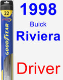 Driver Wiper Blade for 1998 Buick Riviera - Hybrid