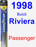 Passenger Wiper Blade for 1998 Buick Riviera - Hybrid