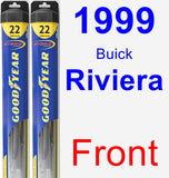 Front Wiper Blade Pack for 1999 Buick Riviera - Hybrid