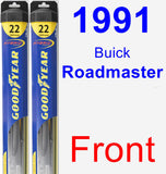 Front Wiper Blade Pack for 1991 Buick Roadmaster - Hybrid