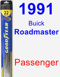 Passenger Wiper Blade for 1991 Buick Roadmaster - Hybrid