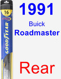 Rear Wiper Blade for 1991 Buick Roadmaster - Hybrid