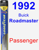 Passenger Wiper Blade for 1992 Buick Roadmaster - Hybrid