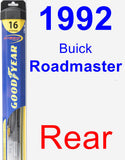Rear Wiper Blade for 1992 Buick Roadmaster - Hybrid