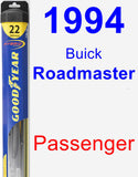 Passenger Wiper Blade for 1994 Buick Roadmaster - Hybrid
