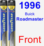 Front Wiper Blade Pack for 1996 Buick Roadmaster - Hybrid