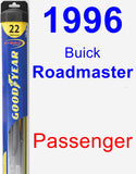 Passenger Wiper Blade for 1996 Buick Roadmaster - Hybrid