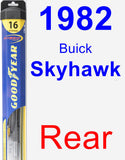 Rear Wiper Blade for 1982 Buick Skyhawk - Hybrid