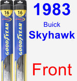 Front Wiper Blade Pack for 1983 Buick Skyhawk - Hybrid