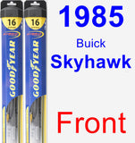 Front Wiper Blade Pack for 1985 Buick Skyhawk - Hybrid
