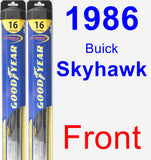 Front Wiper Blade Pack for 1986 Buick Skyhawk - Hybrid