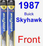 Front Wiper Blade Pack for 1987 Buick Skyhawk - Hybrid
