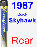 Rear Wiper Blade for 1987 Buick Skyhawk - Hybrid