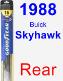 Rear Wiper Blade for 1988 Buick Skyhawk - Hybrid