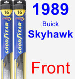 Front Wiper Blade Pack for 1989 Buick Skyhawk - Hybrid