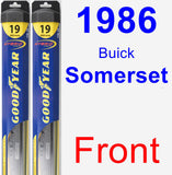 Front Wiper Blade Pack for 1986 Buick Somerset - Hybrid